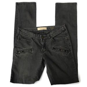Pilcro and the Letterpress Gray Moto Pants Size 25
